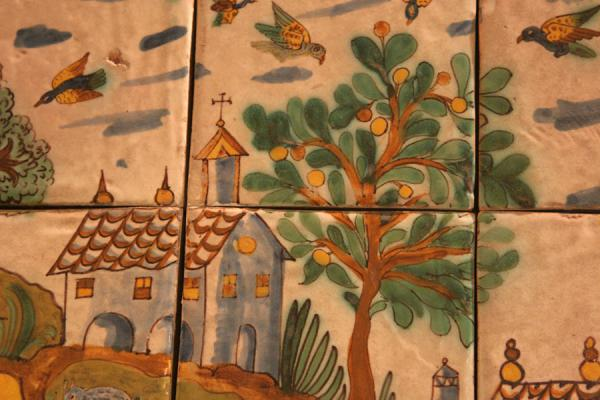 Picture of Pedralbes monastery (Spain): Ceramic art in detail in Pedralbes monastery