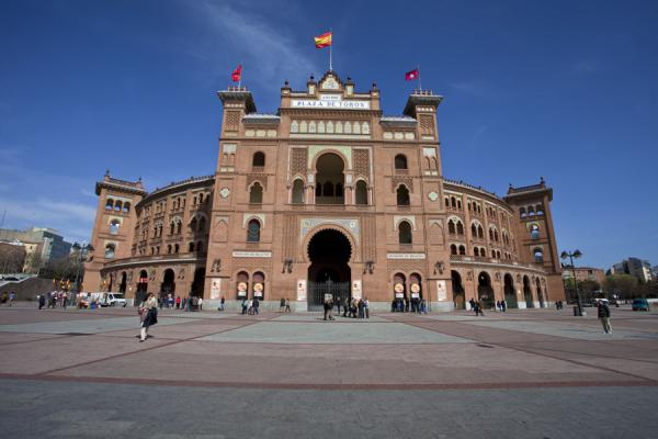 Front view of the bullfight arena of Las Ventas马德里 - 西班牙