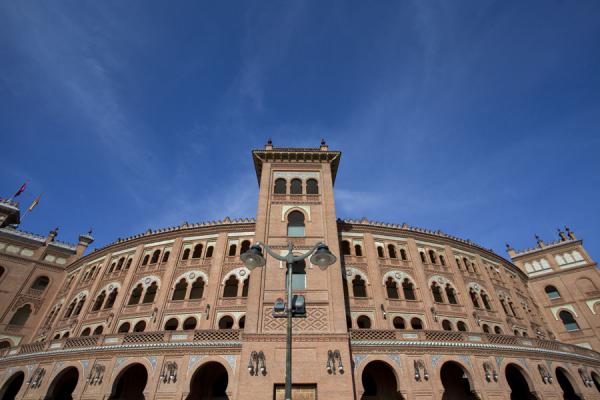 The mudéjar style of the building is evident | Stierenvechtersarena Las Ventas | Spanje