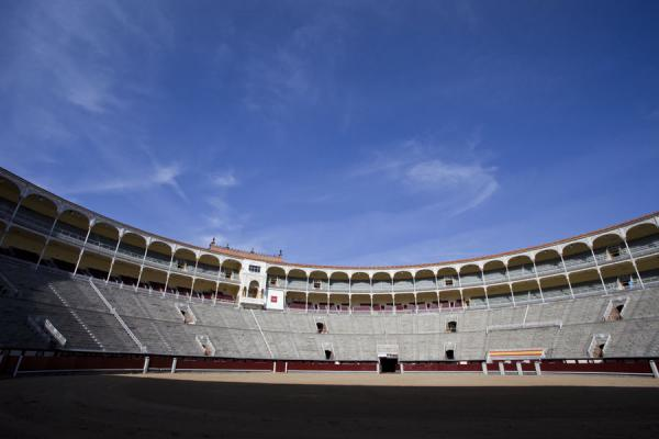 Inside the arena on a quiet morning | Bullfight Arena Las Ventas | Spain