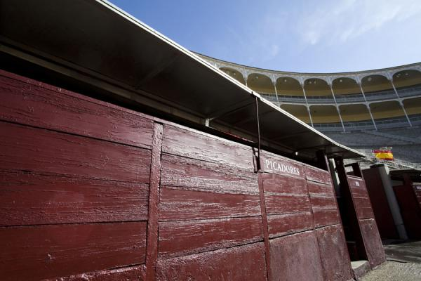 Foto de Shelter for picadores, inside the bullfight arena - España - Europa