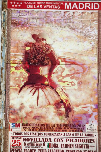Poster for the first corrida of 2012 | Bullfight Arena Las Ventas | Spain