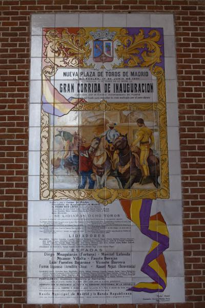 Picture of Announcement for the very first corrida in the Plaza de TorosMadrid - Spain