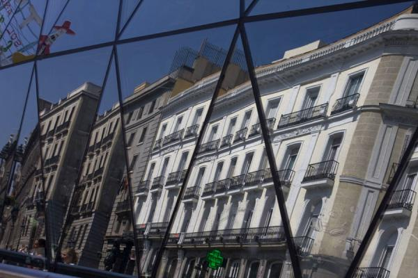 Some of the buildings surrounding Puerta del Sol reflected in Sol subway station | Puerta del Sol | Spain