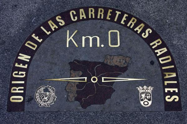 The famous Kilometro Cero near the House of the Post Office building | Puerta del Sol | Spain