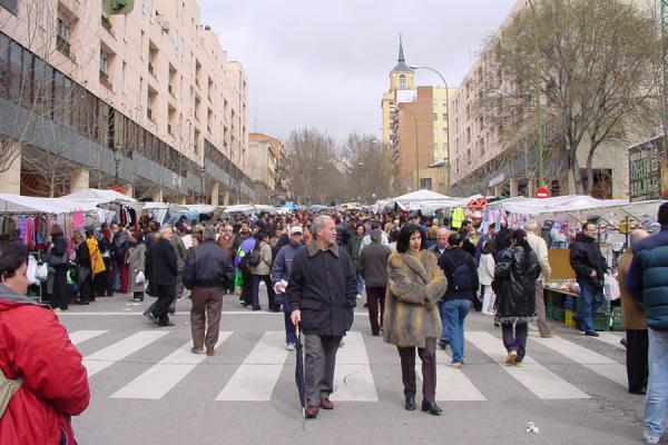 The beginning (or end) of the Rastro | Rastro flea market | Spain