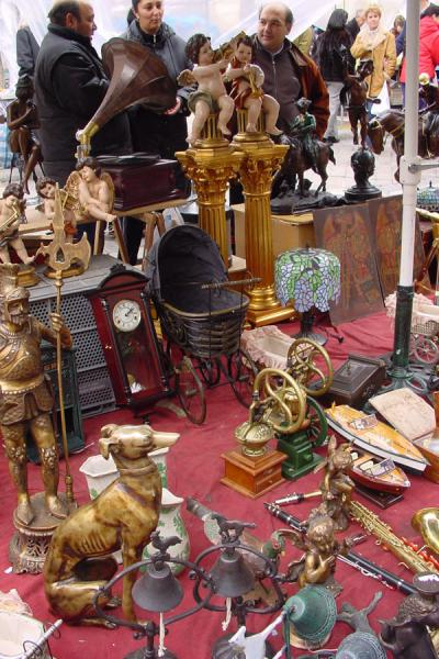 Some of the articles for sale | Rastro flea market | Spain