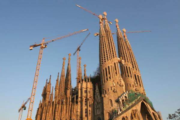Sagrada Familia in the afternoon sun | Sagrada Familia | l'Espagne