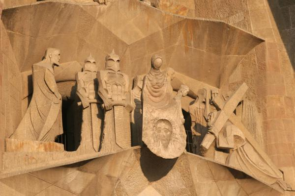 Detail on the wall of the Sagrada Familia | Sagrada Familia | Spanje