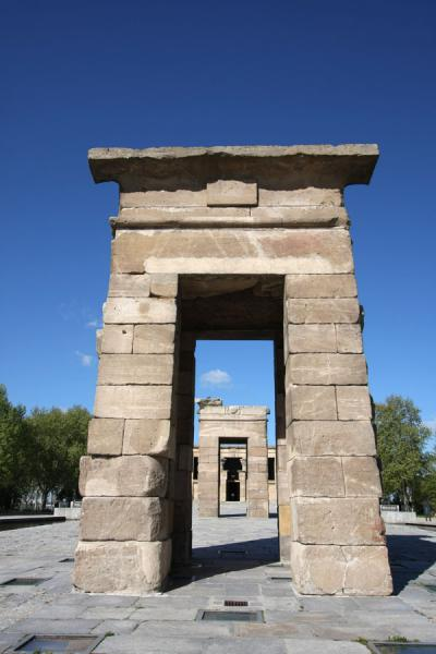 Picture of Temple of Debod (Spain): View through the gateways of the Temple of Debod