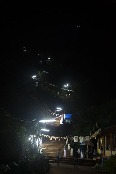 Photo de During the season, the path to the top is illuminated - Sri Lanka - Asie