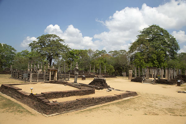 Ruins of temples at the Sacred Quadrangle | Ancient City of Polonnaruwa | Sri Lanka