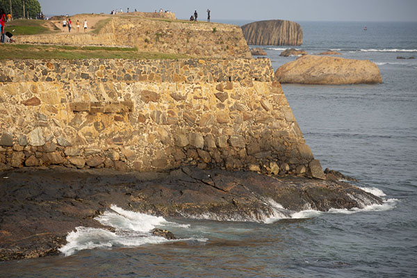Picture of The west side of Galle fort with walls rising high above the ocean - Sri Lanka - Asia