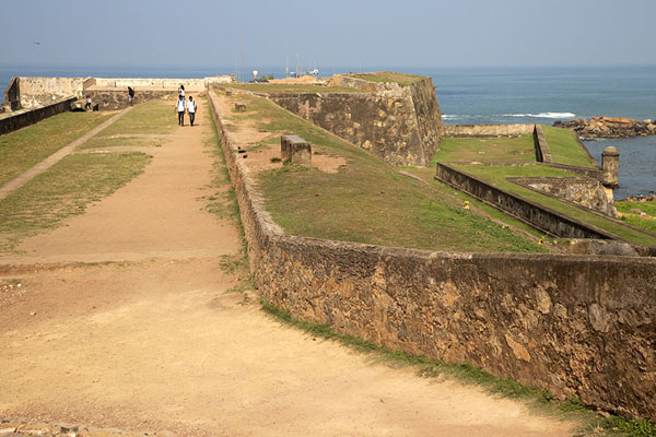 Foto van The western walls of Galle fortGalle fort - Sri Lanka