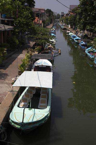 View over one of the other canals in Negombo | Hamilton Canal | Sri Lanka
