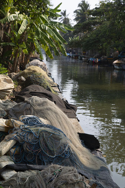 Foto van Heaps of nets on the quay at the Hamilton CanalNegombo - Sri Lanka