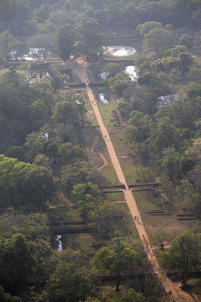 Overview of the gardens from the top of Sigiriya rock - 斯里兰卡
