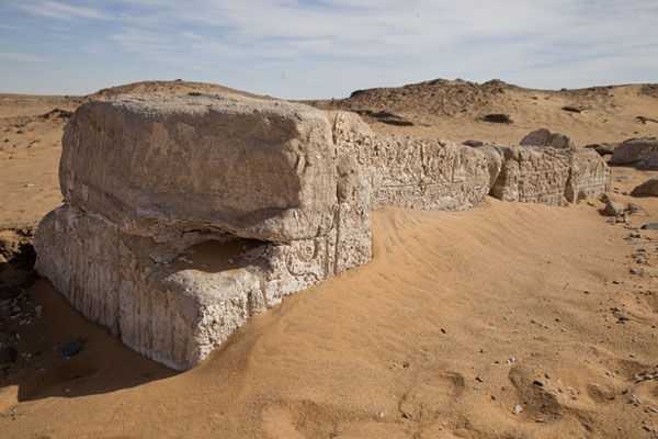 The top section of the gate of Amara West | Amara West | Sudan