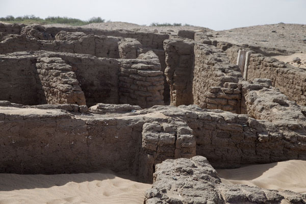 Picture of Amara West (Sudan): Walls of houses in the ancient settlement of Amara West