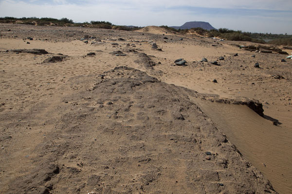 Foto di The outlines of the ancient settlement of Amara West are clearly visibleAbri - Sudan