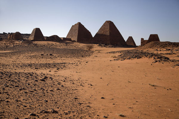 Foto di View of the southern cemetery pyramids - Sudan - Africa