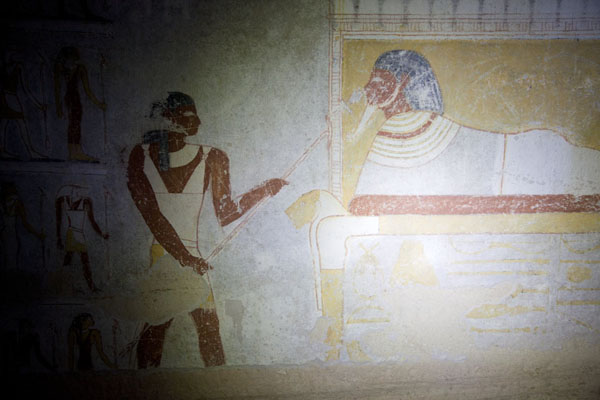 Fragment of a murals in one of the royal tombs at El Kurru | El Kurru Royal Cemetery | Sudan