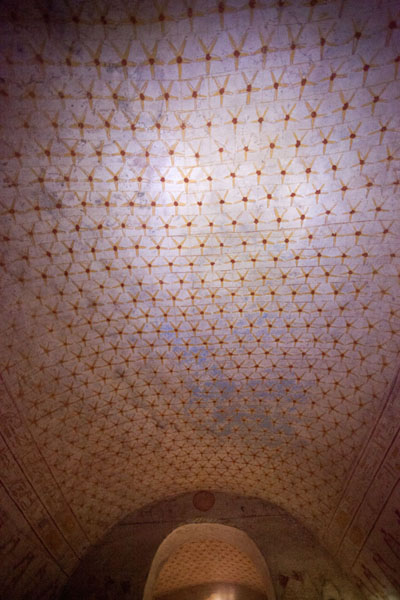 The ceiling of the royal tombs are covered with celestial murals | El Kurru Royal Cemetery | Sudan