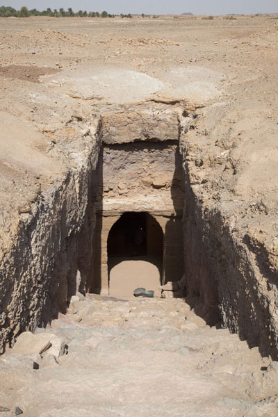 Entrance to one of the underground tombs | El Kurru Royal Cemetery | Sudan