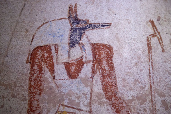 Detail of a wall painting inside one of the royal tombs of El Kurru | El Kurru Royal Cemetery | Sudan
