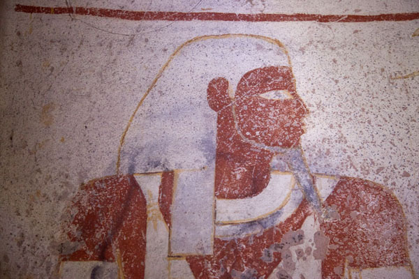 Close-up of a mural inside one of the royal tombs at El Kurru | El Kurru Royal Cemetery | Sudan