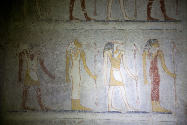 Detail of a mural in one of the royal tombs of El Kurru | El Kurru Royal Cemetery | Sudan