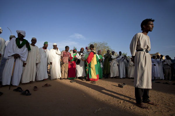 One of the dervishes standing in the middle of the circle | Hamed El Nil dervishes | Sudan