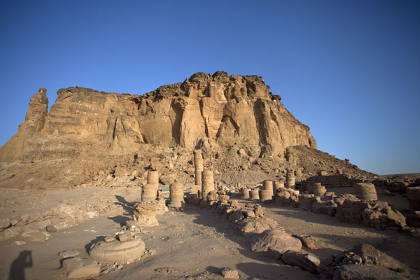 View of Jebel Barkal with the Temple of Amun in the foreground | Jebel Barkal | Sudan
