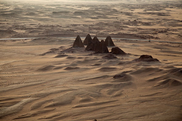 Foto di The pyramids seen from Jebel BarkalKarima - Sudan