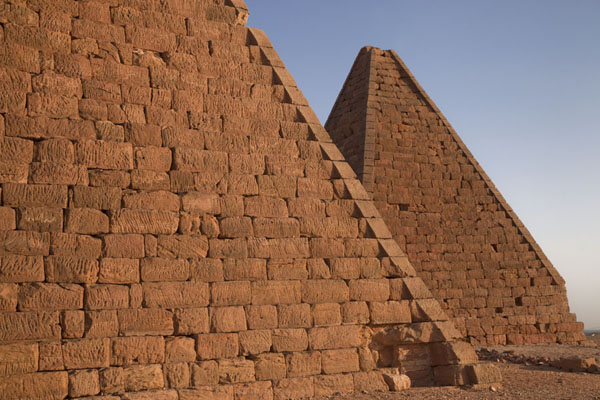 Side view of two of the pyramids at Jebel Barkal | Jebel Barkal | Sudan