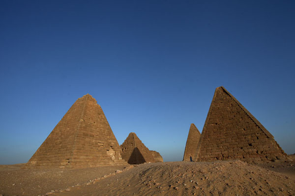 Picture of The pyramids of Jebel Barkal in the late afternoon - Sudan - Africa
