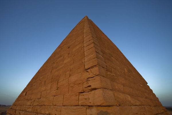 Picture of Pyramid on the western side of Jebel Barkal at sunset
