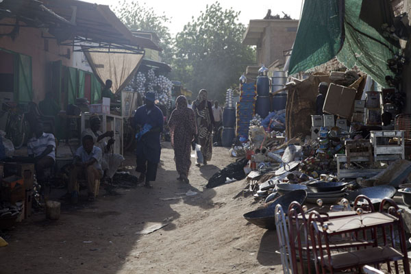 Picture of Market of Kassala: street scene in the afternoon