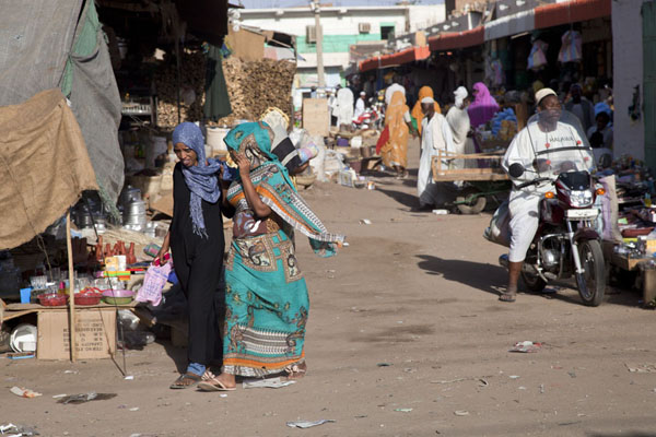 Picture of Street scene of one of the markets of Kassala - Sudan - Africa