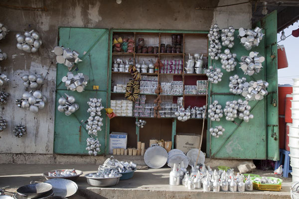 Shop selling coffee pots in Kassala | Kassala Markets | 苏丹