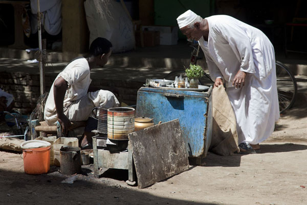 Picture of Man at a tea stall at one of the markets of KassalaKassala - Sudan