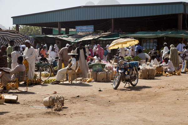 Foto van Part of the market of Kassala where fruits are soldKassala - Soedan