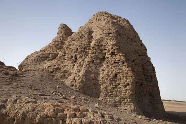 The eastern deffufa seen from below | Deffufas of Kerma | Sudan