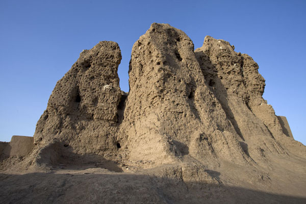 The western deffufa seen from below | Deffufas of Kerma | Sudan