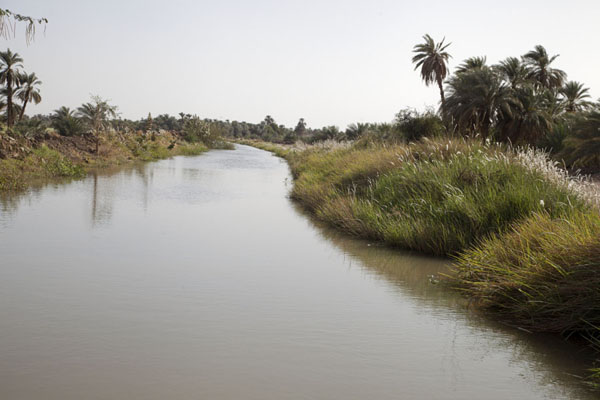 Canal between the western and eastern deffufa | Deffufas of Kerma | Sudan