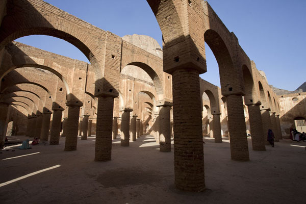 Picture of The ceiling has gone, but the arches and columns are still there at the mosque of Khatmiyah