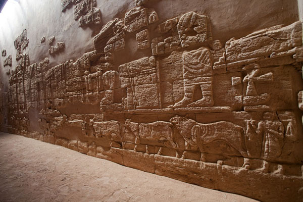 View of a reconstructed wall inside the Lion Temple | Musawarat es Sufra | Sudan