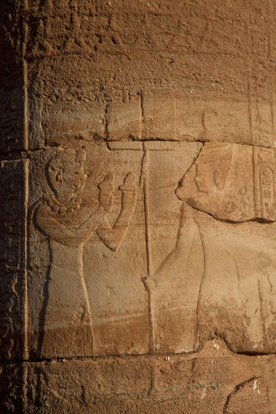Picture of Detail of a column of the Temple of AmunNaqa - Sudan