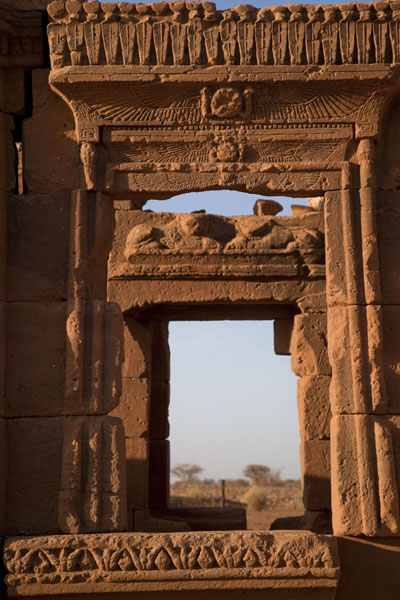 Richly decorated window at the Kiosk | Naqa | Sudan