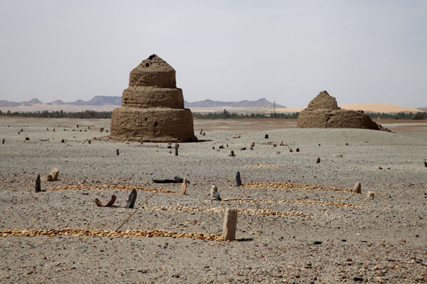 Tumuli on the cemetery adjacent to the Ottoman fort | Sai Island | Sudan